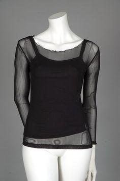 Silk Net Long Sleeve Top