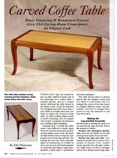 american woodworker coffee table plans
