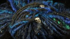 My pewter skull yarn. namastefarms.com