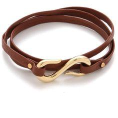 Gorjana Sadie Triple Wrap Bracelet ($50) ❤ liked on Polyvore
