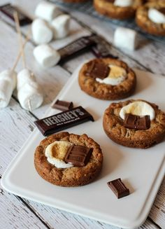 Deep Dish S'more Cookies.