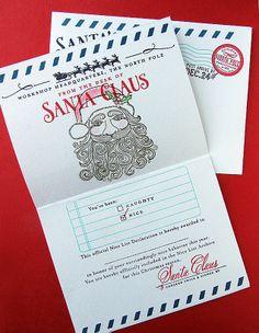 Homespun with Heart: Santa Stationery...