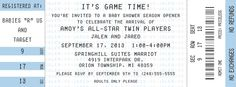 All Star Basketball Ticket Invitation by Lepenn Designs
