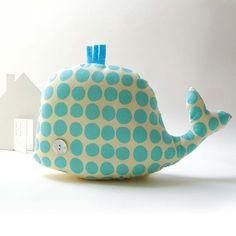 Une baleine coussin