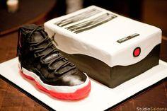 BDay Shoe Cake...Jordan BRed(blk/red) XI
