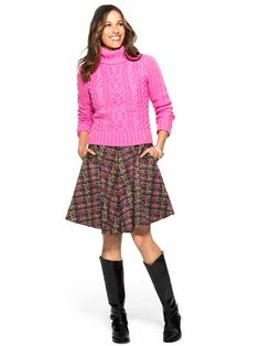 Pop a pink sweater over your dress - it's like gaining another skirt. #FashionTips