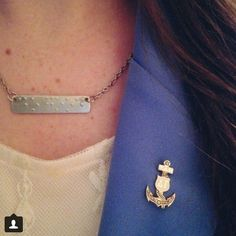 "Two for one special - stunning chapter president's badge AND super awesome ""Do Good"" braille necklace!"