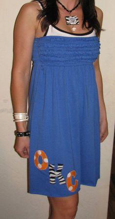 OKC Thunder Dress available in my etsy shop