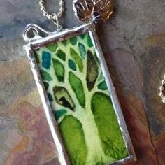 Soldered Glass Jewelry, Combining Two Passions, Watercolor and Jewelry Making