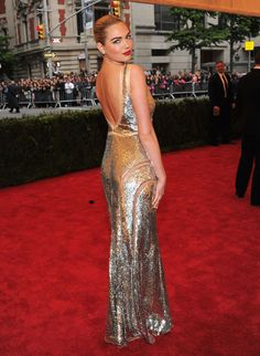 Kate Upton in Michael Kors at the 2012 Met Gala