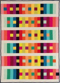 "Beautiful ""Color-Sensation"" quilt from Quilt Magazine."