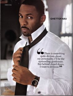 The Irresistible Idris Elba -- half SierraLeonian, half Ghanaian, all British!  Gorgeous!