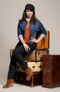 Lucky Brand 'Sabrina' Denim Jacket (Plus Size)   Nordstrom