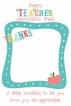 "Craftibilities: Teacher Appreciation Week - ""TEA"" cher downloadable tag"