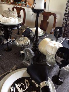 Elegant Halloween table.