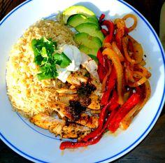 Chile Garlic Lime Chicken Fajitas