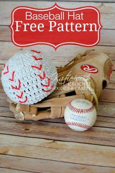 Free Baseball Crochet Hat Pattern by Katie's Crochet Goodies
