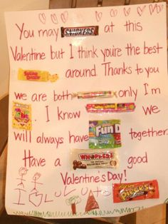 CANDY CARD - kid's crafts - homemade Valentine for Dad from son