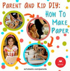 Looking for a unique #craft? Try making paper with your child! Our #LearningToolkit blog shows you how. Click for details.