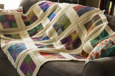 Mitered Squares Blanket | Flickr - Photo Sharing! flickr, squar blanket, miter squar