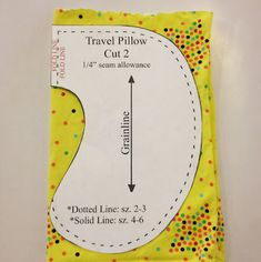 Child Travel Pillow Sewing Pattern   Christen Noelle
