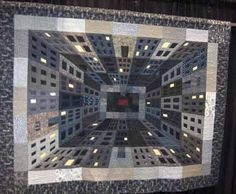 This one actually made me dizzy to look at!! LOL I think it's awesome how the quilt maker made this so 3D!