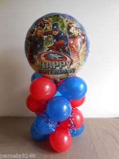 NEW AVENGERS BIRTHDAY PARTY  BALLOON TABLE DECORATION DISPLAY