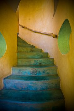 Stairs with detail tile by Villa Amor in Sayulita