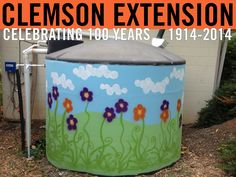 Rainwater harvesting cistern located at South Carolina Botanical Garden. Photo courtesy of Cathy Reas Foster, Clemson Extension. #ClemsonExt100