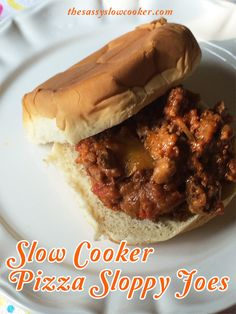 Try this easy crock pot sloppy joes - Pizza Style!