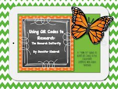 Using QR Codes to research the Monarch Butterfly - FREE download: http://blog.techwithjen.com/2013/04/a-technology-blog-hop.html