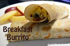 Don't sacrifice your sleep for a home cooked breakfast—make easy Breakfast Burritos by @Five Little Chefs the night before! #HolidayHelper