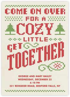 Cozy Get Together - Paperless Post // kinda love this