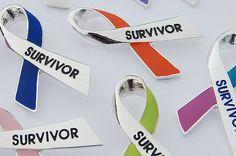 Cancer Survivor Ribbon Pin
