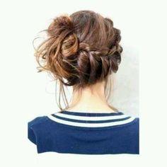 #hairstyle #messybun #braid