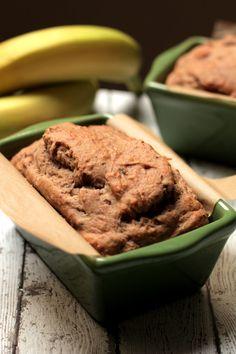 Naturally-sweetened, perfectly-moist, gluten-free banana bread! (see if SCD okay)