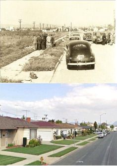 Black Dahlia murder scene, then and now.