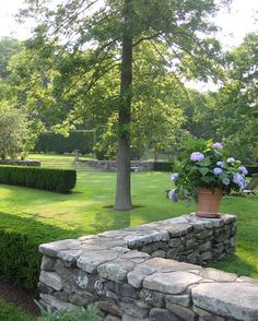 love the stone fence