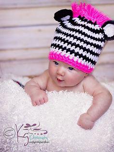 Ravelry: Zebra Beanie pattern by Crystal Adkins Heavenly Crochet Photo Props