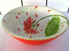 Creative pottery painting ideas on pinterest pottery for Bowl painting ideas