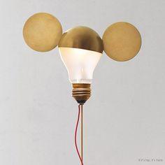 Mickey bulb topper.