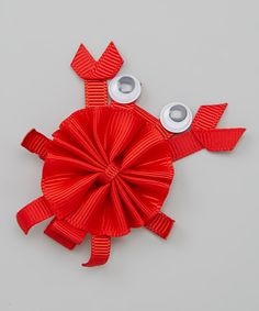 Look at this Red Crab Bow Clip on #zulily today!