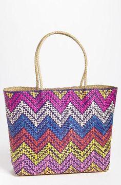 Great, colorful chevron beach bag!