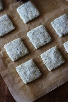 Earl grey shortbreads squares