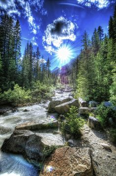 ✯ A Sunny Day at Banff #sun