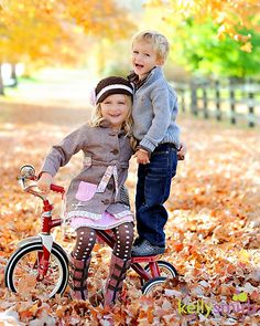 fall leaves, sibling photos, fall pictures, girl outfit, famili