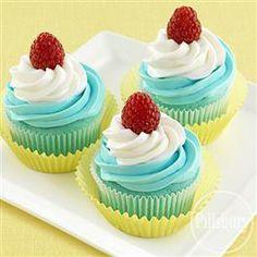 Blue Raspberry Swirled #Cupcakes from Pillsbury® Baking