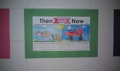 Here's a nice idea for comparing past and present. Includes downloadable T-chart.