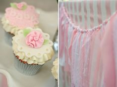 Project Nursery - Pink and White Baby Shower Cupcakes and Fringe Banner