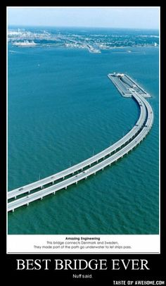 Underwater-Bridge Connecting Sweden with Denmark